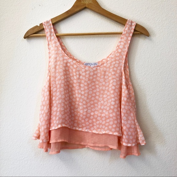 1ec87b17efd Cotton On Tops | Pink White Polka Dot Crop Top | Poshmark